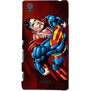 ColourCrust Superman Printed Designer Back Cover For Sony Xperia T3 Mobile Phone - Matte Finish Hard Plastic Slim Case