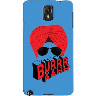 ColourCrust Burraah Punjabi Style Printed Designer Back Cover For Samsung Galaxy Note 3 Mobile Phone - Matte Finish Hard Plastic Slim Case