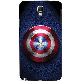 ColourCrust Captain America Printed Designer Back Cover For Galaxy Note 3 Neo Mobile Phone - Matte Finish Hard Plastic Slim Case