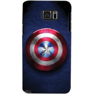 ColourCrust Captain America Printed Designer Back Cover For Samsung Galaxy Note 5 Mobile Phone - Matte Finish Hard Plastic Slim Case