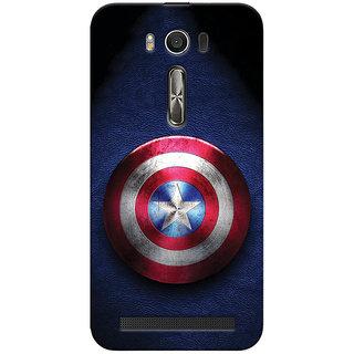 ColourCrust Captain America Printed Designer Back Cover For Asus Zenfone 2 Laser ZE500KL Mobile Phone - Matte Finish Hard Plastic Slim Case