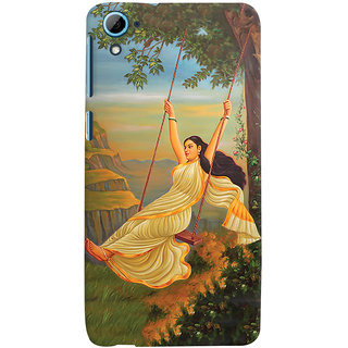ColourCrust Meera Mythological Art Printed Designer Back Cover For HTC Desire 826/Dual Sim Mobile Phone - Matte Finish Hard Plastic Slim Case