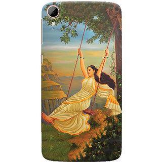 ColourCrust Meera Mythological Art Printed Designer Back Cover For HTC Desire 828 / Dual Sim Mobile Phone - Matte Finish Hard Plastic Slim Case