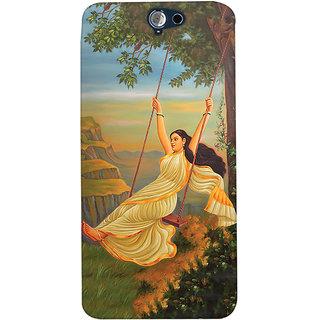ColourCrust Meera Mythological Art Printed Designer Back Cover For HTC One A9 Mobile Phone - Matte Finish Hard Plastic Slim Case