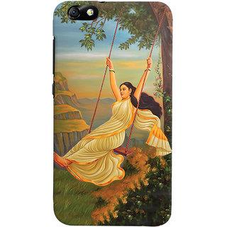 ColourCrust Meera Mythological Art Printed Designer Back Cover For Huawei Honor 4X / Dual Sim / Glory Play Mobile Phone - Matte Finish Hard Plastic Slim Case