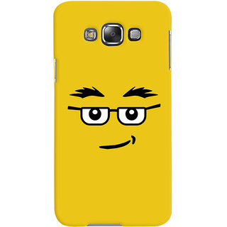 ColourCrust Quirky Smiley Expression Printed Designer Back Cover For Samsung Galaxy E7 Mobile Phone - Matte Finish Hard Plastic Slim Case