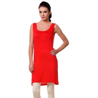 TeeMoods Womens Long Red Chemise