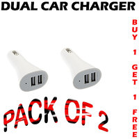 Combo Of 2 MICRO USB CAR CHARGER and free Card Reader CODESQ-7784