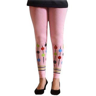 Casa Trendy Fashion Printed Ankle Length Pink legging For Women