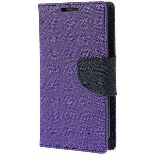 Mercury Wallet Flip case cover for Micromax A106 Unite 2  (PURPLE)