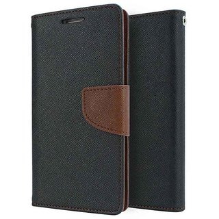 Mercury Wallet Flip case cover for Lenovo A2010  (BROWN)
