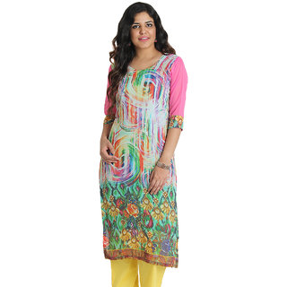 Apella Multicolored Georgette Kurti