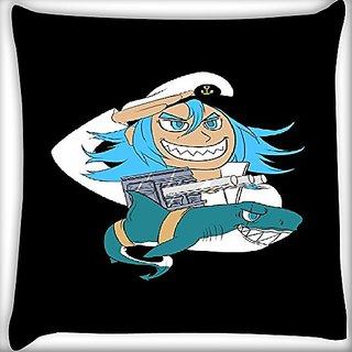 Snoogg Sailor 14 X 14 Inch Throw Pillow Case Sham Pattern Zipper Pillowslip Pillowcase For Drawing Room Sofa Couch Chair Back Seat