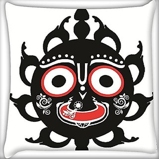 Snoogg Mirror Face 24 X 24 Inch Throw Pillow Case Sham Pattern Zipper Pillowslip Pillowcase For Drawing Room Sofa Couch Chair Back Seat