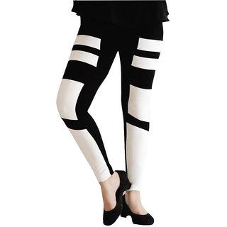 Casa Trendy Fashion Printed Ankle Length Black legging For Women