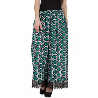cotton printed green trouser