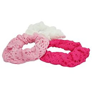 White Pink and Magenta Fabric Coated Hair Band
