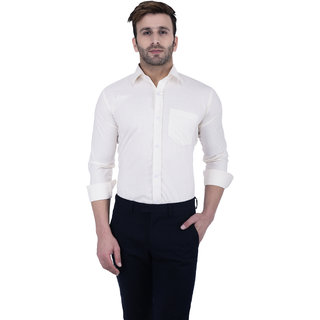 Lee Marc Yellow Spread Full sleeves Shirt For Men