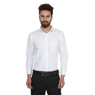 Lee Marc White Spread Full sleeves Shirt for Men