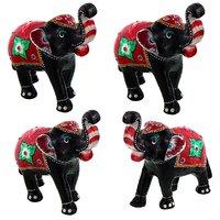 Gomati Ethnic Home Dcor Paper Mache Elephant Pair Showpiece Gifts Handicraft With Paper Mache Elephant Pair Showpiece Gifts Handicraft-COMB399