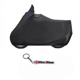 Water Proof Body Cover For Bajaj Pulsar 135 DTSi Black With Key Chain