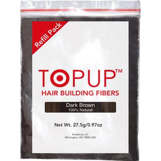 TOPUP (Dark Brown) Hair Building Fiber Refill Bag - 27.5 grams