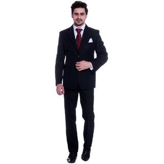 Anand Office Wear Black 2 Piece Suit Set