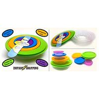 Food & Storage Containers Set 4 Different Size Mirowave Safe Pc Kitchen Capacity