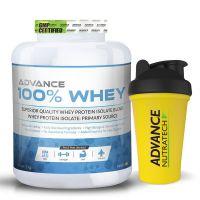 Advance  Whey Protein Powder 2 Kg (4.4Lbs) Vanilla + Free Shaker
