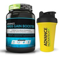 Advance Mass Gain Booster 2 Kg (4.4Lbs) Chocolate + Free Shaker 600Ml