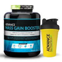 Advance Mass Gain Booster 4 Kg ( 8.8 Lbs ) Chocolate + Whey Protein Shaker 600Ml