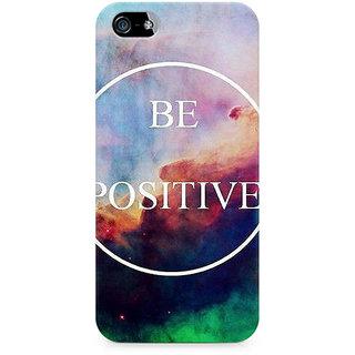 CopyCatz Be Positive Premium Printed Case For Apple iPhone 4/4s