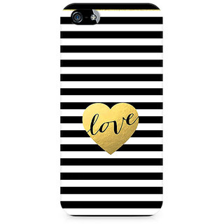 CopyCatz Black And White Gold Love Premium Printed Case For Apple iPhone 4/4s