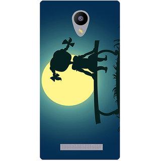 Amagav Printed Back Case Cover for Lyf Flame 5