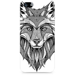 CopyCatz Line Art Wolf Premium Printed Case For Apple iPhone 5/5s