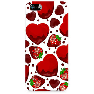 CopyCatz Strawberry and Hearts Premium Printed Case For Apple iPhone 4/4s