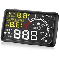 5.5inch X3 ELM327 Car HUD Head Up Display with Bluetooth Function OBD2 Interface Plug