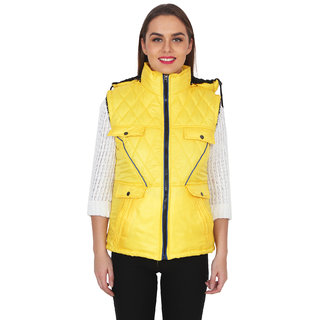 NumBrave Womens Yellow Jacket