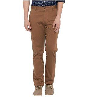 Khaki Slim Flat Trouser