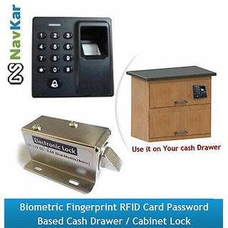 Biometric Fingerprint RFID Card Password based Cash Drawer / Cabinet Lock