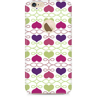 CopyCatz Heart Pattern Premium Printed Case For Apple iPhone 6/6s with hole
