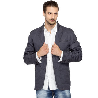 Spykar Blue Long Sleeve Jacket For Men