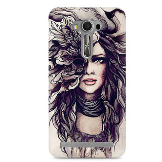 CopyCatz Crazy Hairy Girl Premium Printed Case For Asus Zenfone 2 Laser ZE550KL
