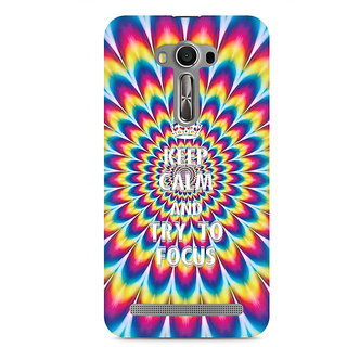 CopyCatz keep calm and focus trippy Premium Printed Case For Asus Zenfone 2 Laser ZE550KL
