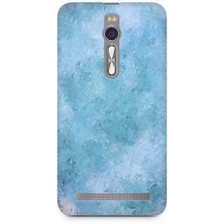 CopyCatz Blue Abstract Flourish Premium Printed Case For Asus Zenfone 2