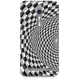 CopyCatz Illusion Checks Premium Printed Case For Asus Zenfone 2