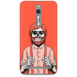 CopyCatz Skeleton Beardo Premium Printed Case For Asus Zenfone 2