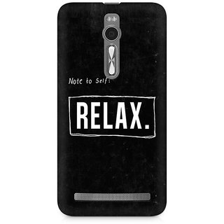 CopyCatz Just Relax Premium Printed Case For Asus Zenfone 2