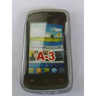 Karbonn A3 A 3 Mobile Silicone Battery Back Cover Case Grey Color available at ShopClues for Rs.79