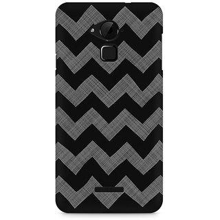 CopyCatz Cheveron Shades of Grey Premium Printed Case For Coolpad Note 3